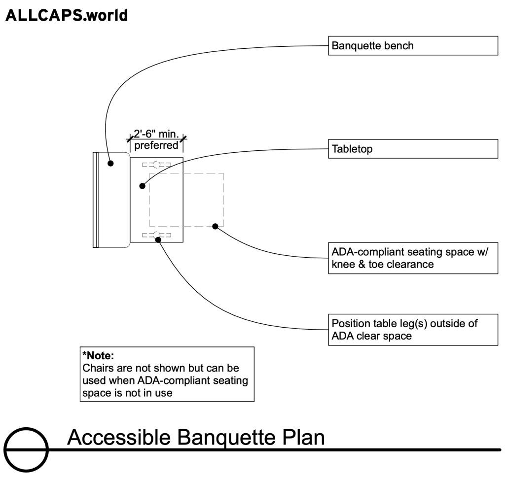 Accessible Banquette Plan