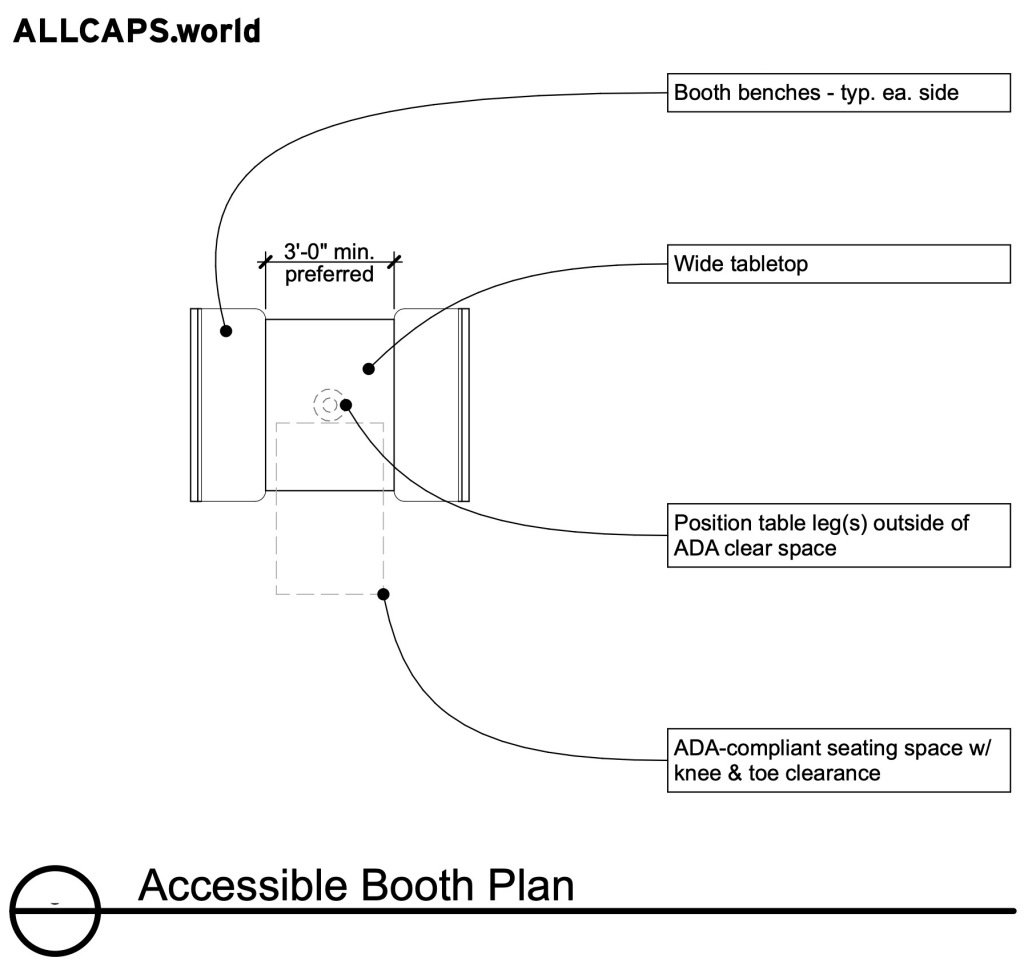 Accessible Booth Plan